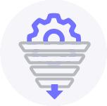 Icon für die Sales-Pipeline der ERP Software